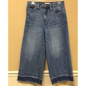Madewell Wide Leg Crop Drop Hem Edition Jeans  30